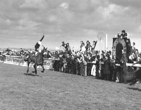 Red Rum winning the 1977 Grand National